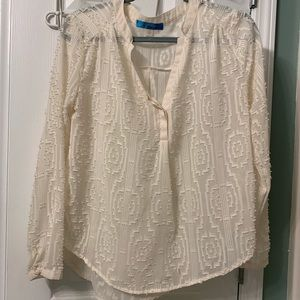 Popcorn blouse! So cute and perfect for work!